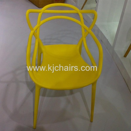 China supplier latest colorful plastic dining room chair for home furniture
