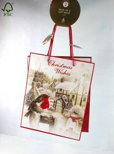 CHRISTMAS PAPER SHOPPING BAG