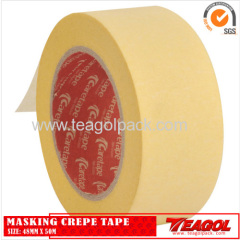 Yellow Masking Crepe Tape 48mm x 50m