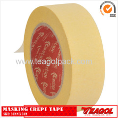 Yellow Masking Crepe Tape 30mm x 50m