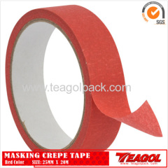 Crepe Paper Tape Red Color 25mm x 20m
