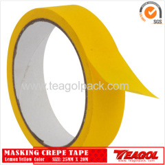 Crepe Paper Tape Lemon Yellow Color 25mm x 20m