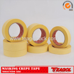 Crepe Paper Paint Tape Industrial Purpose Yellow Color 50m/Roll