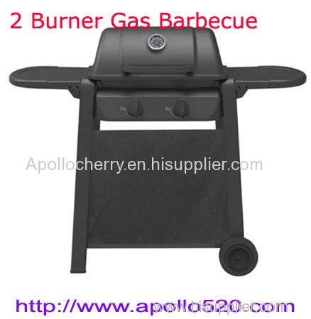 Gas BBQ 2burners with foldable side table