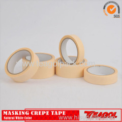Crepe Paper Paint Tape General Purpose White Color 20m/Roll