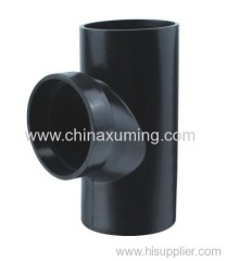 PE Siphon Drainage Circulation Tee Pipe Fitting