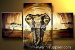 Animal handmade oil painting