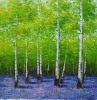 White Birch forest landscape art canvas