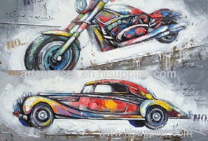 Moto can car hotsale painting