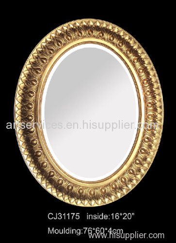 Resin mirror frame oval