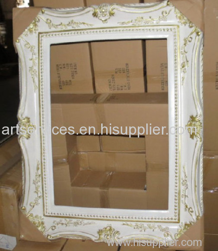 European painting frame white and golden