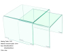 modern clear glass nesting table