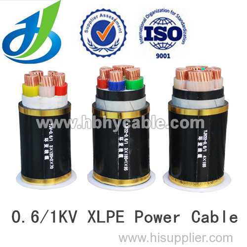 0.6 / 1KV PVC Insulated Low Voltage Electric Power Cable