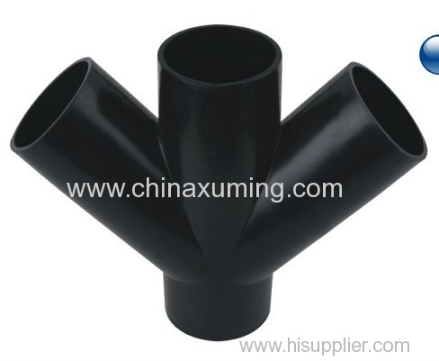 PE Siphon Drainage Oblique Four Ways Pipe Fittings