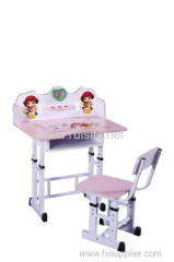 modern design children desk and chair for study