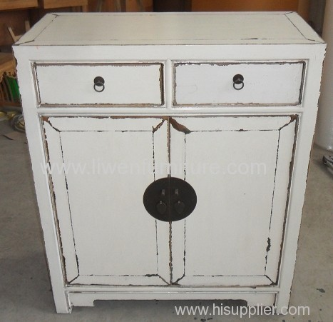 Antique chinese white cabinet