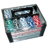 600pcs poker chips sets in arylic case china suppliers