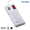 Power Strip with Surge Protector and 2 Telephone Sockets