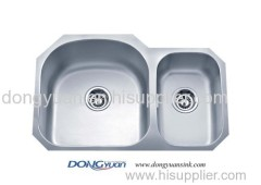 304 stainless steel double bowls undermount kitchen sink
