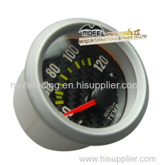 52mm carbon fiber black face water temp gauge meter
