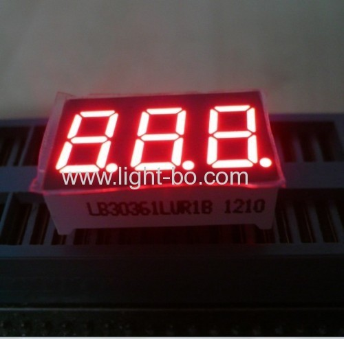 0.36 inch common anode super bright red 3 digit led seven segment led display for digital indicator