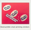 Destructible vinyl printing anti-counterfeit Tamper Proof Seal stickers