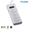 4 ports Electrical Extension Power Strip for Brazil
