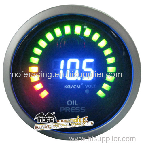 52mm bright blue LCD digital oil temp gauge