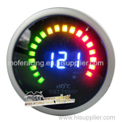 52mm extaust temp gauge with With red, green, yellow wideband