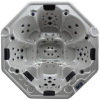 Octagonal free standing 8 persons outdoor spa pool
