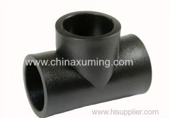 HDPE Socket Fusion Equal Tee Pipe Fittings