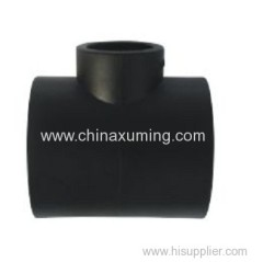 HDPE Socket Fusion Reducing Tee Pipe Fittings