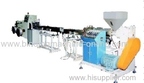 Automatic plastic extruding machine