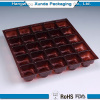Rectangle plastic chocolate blister tray with dividers