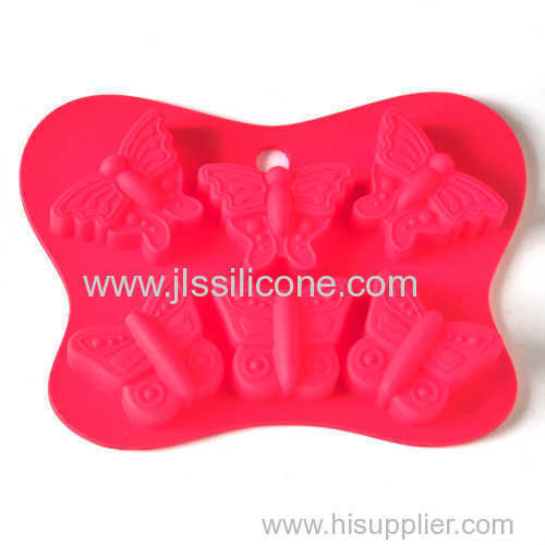 Butterfly shape silicone baking tray cake mould