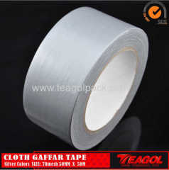 Cloth Gaffar Tape 70mesh Silver Color Size: 50mm x 50m