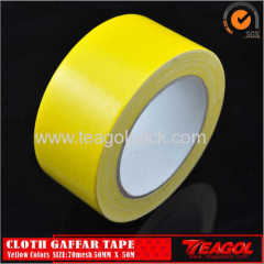 Cloth Gaffar Tape 70mesh Yellow Color Size: 50mm x 50m