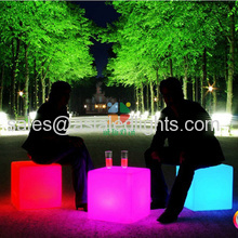 led lighted stool chair cube illuminated bar furniture