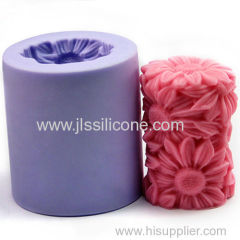 New arrival silicone candle mold flower factory