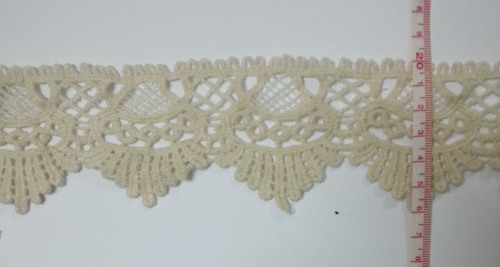 New design 100% cotton lace water soluble lace trim WTC436