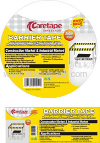 PE Barrier Tape-Round Label or Square Sticker