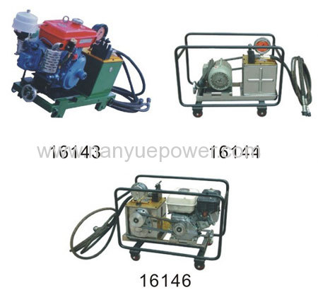 Superhigh pressure hydraulic pump station hydraulic power units pack with diesel gaoline electric engine optional