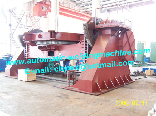 Automatic seat type rotating and tilting welding positioner for pressure vessel