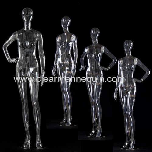 Sexy full body PC transparent female mannequin