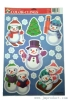 xmas stickers of snowman