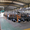 conveyor spray coating line for car rims