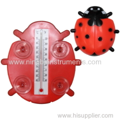 Beetle Window Thermometer; animal window thermometer