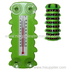Caterpillar Window Thermometer; Animal Window Thermometer
