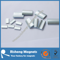 N35SH Sintered Neodymium Segment Magnets with Nickel Coating Neodymium Rare Earth Magnets