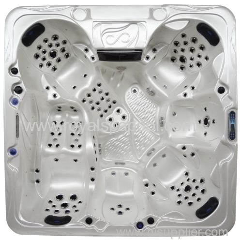 Garden rectangular hot spa tub